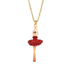 Red sparkling ballerina necklace