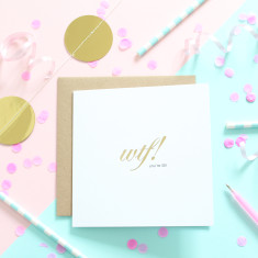 Gold foiled number card
