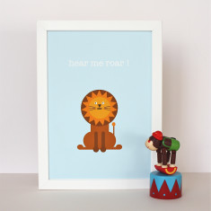 Larry The Lion Nursery Print