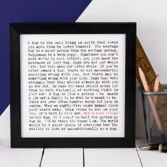 Man's best friend typographic print