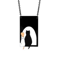 Cat shadow necklace