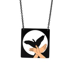 Bird shadow necklace