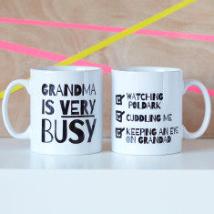 Personalised Very Busy Grandma Mug