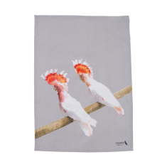 Major Mitchell cockatoo friends tea towel