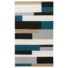 Varis gometric handmade flat weave rug