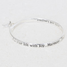 Fill your life with joy… star charm silver bangle