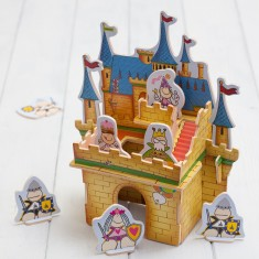 Build Your Own 3D Wooden Castle Playset