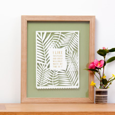 Personalised Papercut for Mum with Quote in Gold