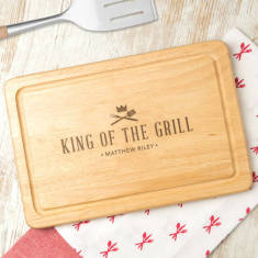 Personalised 'King Of The Grill' Steak Chopping Board