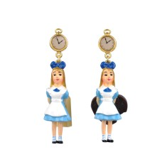 Alice 'eat me' earrings