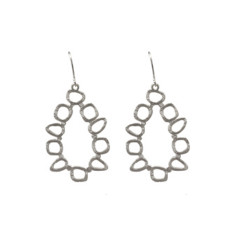 Abstract dangles (silver)