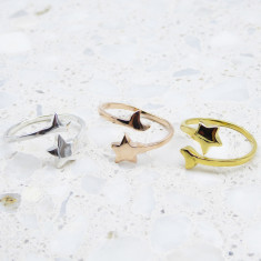 Cosmic Ring In Silver, Gold Or Rose Gold
