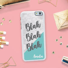 Personalised 'Blah Blah Blah' iPhone Cover