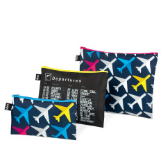 LOQI zip pocket (set of 3) airport collection