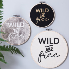 Personalised 'Wild And Free' Wall Art