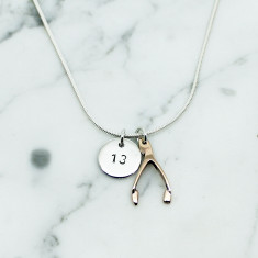 Personalised Double Lucky 9ct gold necklace