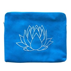 Lotus Clutch in Teale with White