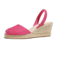 Teresa suede leather sandals in pink