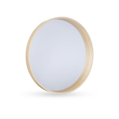 Lamont Natural Wood Mirror 53cm by Oak and Ash