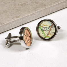 Map cufflinks (you choose the location)