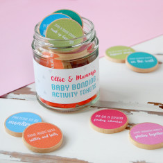 Personalised Mummy And Baby Bonding Tokens Jar