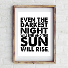 Sun will rise print