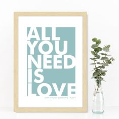 Personalised scandi style love print (various colours)