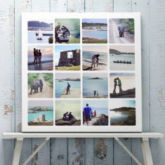 Personalised Photo Collage Canvas Or Print