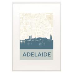 Adelaide skyline print