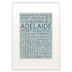 Adelaide text print