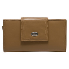 Adele large credit card wallet in taupe