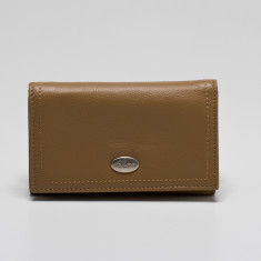 Adele medium credit card wallet with zip coin purse in taupe