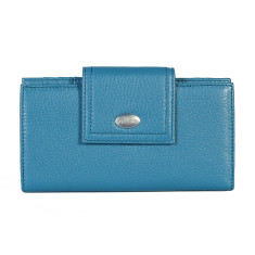 Adele large wallet in blue