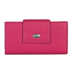 Adele large credit card wallet in magenta