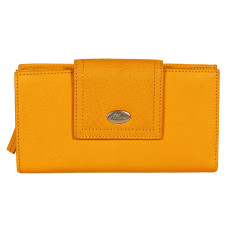Adele large credit card wallet in yellow