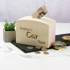 Personalised Car Fund Money Box