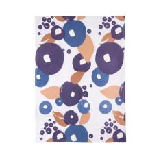 Blue & beige floral tea towels (set of 3)