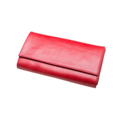 Zola Leather Wallet (Red)