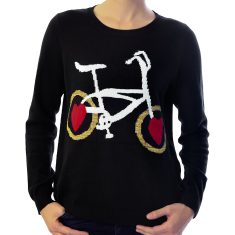 Wheel Love never tyres knit sweater