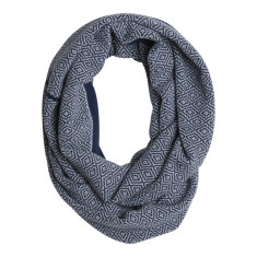 Diamonds knit loop in Navy and Grey