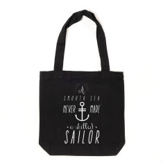 A smooth sea tote bag in black & white
