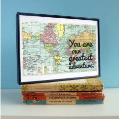 Our greatest adventure map print nursery art