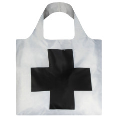 OQI reusable bag in museum collection in black cross