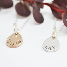 Mini Personalised Teardrop Necklace
