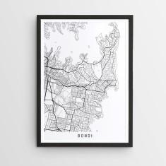 Bondi minimalist map print