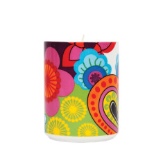 French Bull soy candle in raj pattern