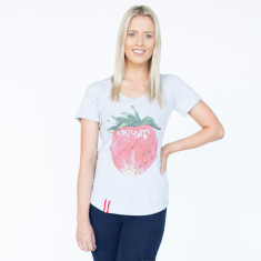 Strawberry Light Grey Marle Cotton Tee