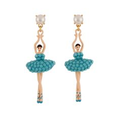 Ballerina Earrings - Turquoise Blue