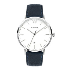 Versa 40 Watch In Steel with Navy Band