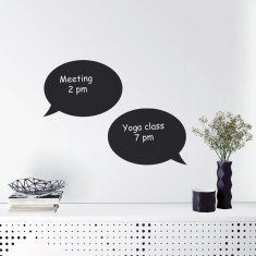 Reusable chalkboard speech bubble